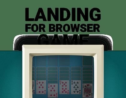 Landing for browser game