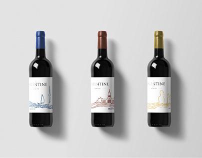 packaging de nicolas ( gamme de vins du monde )