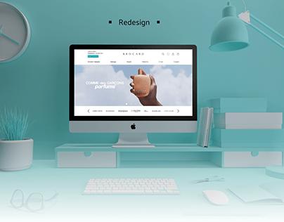 Redesign online shop BROCARD