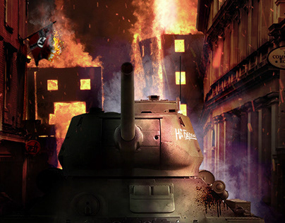 Matte Painting tank T34-85