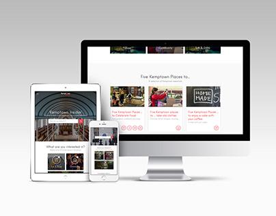 Kemptown Insider branding & website