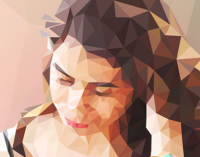 Low Poly Illustration #Self Potrait