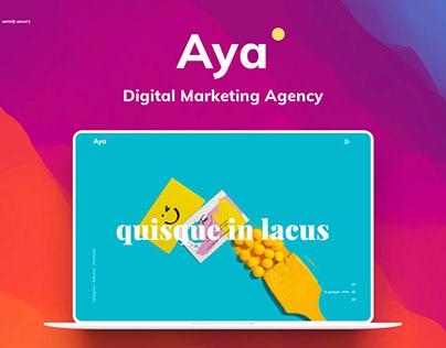 Digital Marketing Agency Aya - Free Download