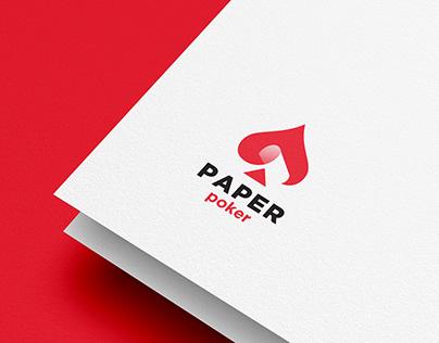 Paper Poker Logo Design Inspiration