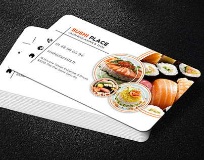 Business Card Design For Sushi Place
