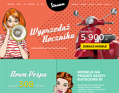 Vespa website project