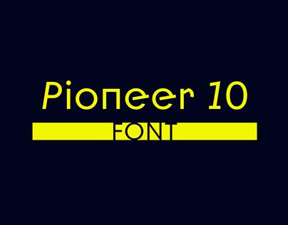 Pioneer 10 | font