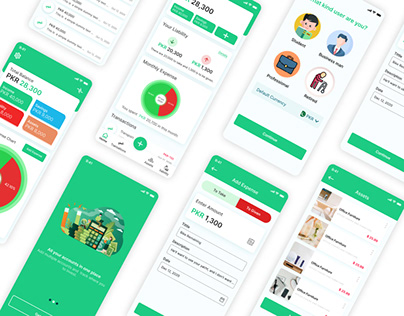 Daily Expenses App UI Design