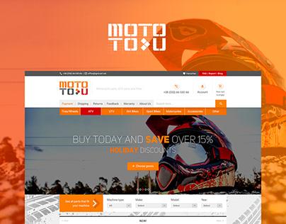 Moto To-U website design