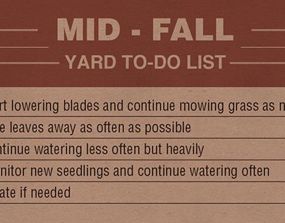 Checklist Infographic: Your Guide to Fall Lawn Care