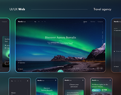 Nordic tour - Travel agency website | Concept Design