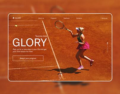 Landing page - Tennis club