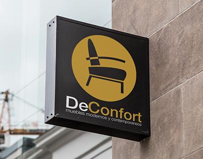 Deconfort Furniture Store Logo Design