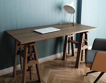 Trestle Desk by Karpenter Furniture