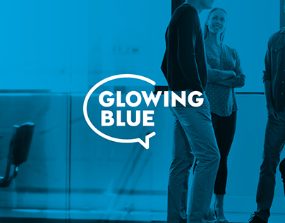 GLOWING BLUE Branding