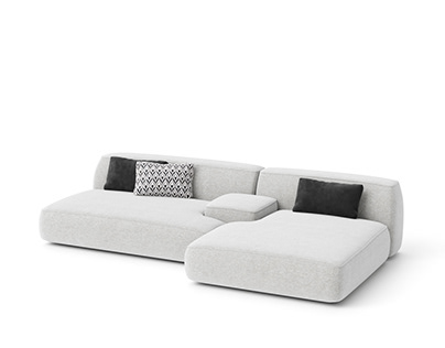 Sofa #03   C4d+Corona   3d Model