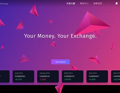 XPA Exchange Landing Page