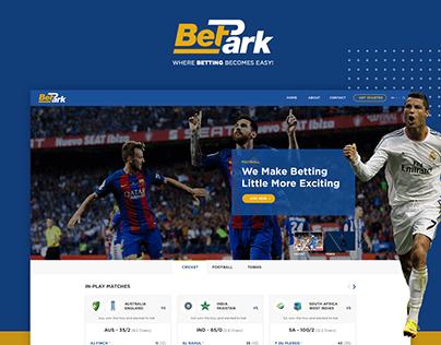 Bet Park Web UI Design