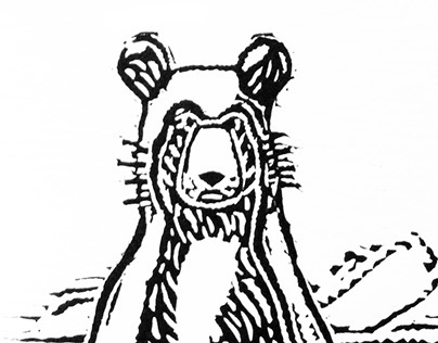 The Philosopher Bear, an illustrated hand-made book