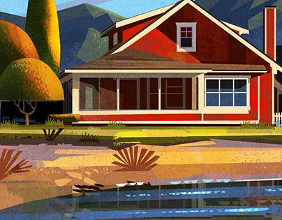 Autumn Beach House