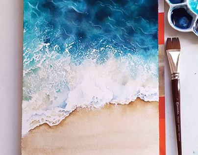 Beaches in watercolor