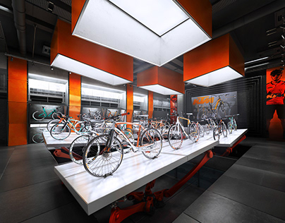 KTM BICYCLES conceptual SHOWROOM