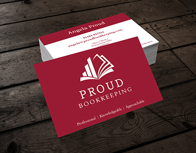 Proud Bookkeeping Business Card & Logo