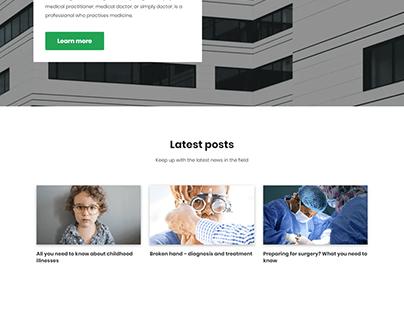 Doctor, Hospital, Medical, treatment Landing website