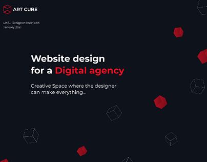 UX/UI Design   Website for a Digital/Creative Agency
