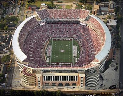 A Look at Alabama's Bryant-Denny Stadium