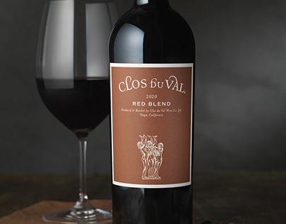 Clos du Val Red Blend Packaging Design & Logo