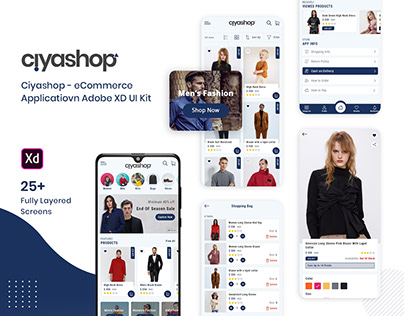 Ciyashop - eCommerce Application Adobe XD UI Kit