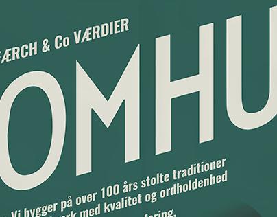 Færch & Co. - værdier; ord og plakater