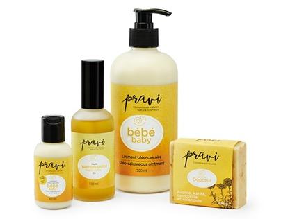Pravi cosmétiques naturels - gamme pour bébé- Packaging