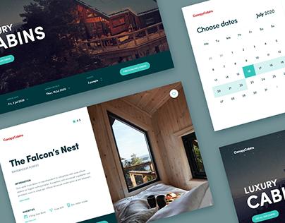Cabin Rental UI Concept