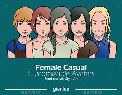 Female Casual Customizable Avatars