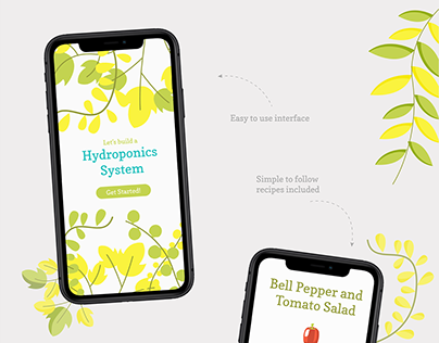 Hydroponics System App and Packaging