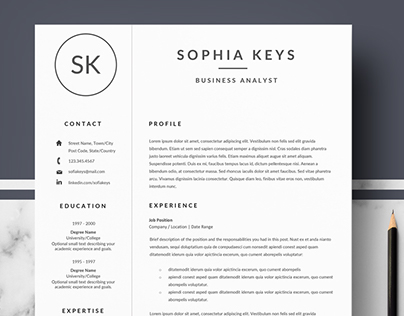 Minimalist Resume / CV for MS Word & Pages