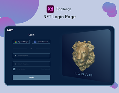 NFT - Login Page