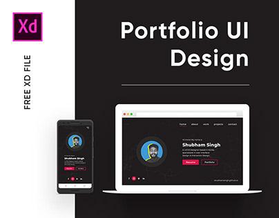 Portfolio UI Design - Adobe XD