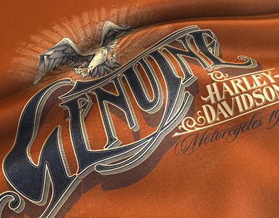 T-shirts designs for Harley Davidson.