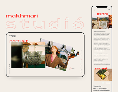 Makhmari Studio —Website/Mobile app