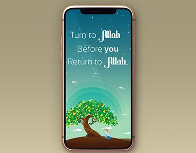 Islamic Mobile Wallpaper Design.