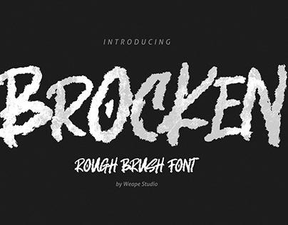 Brocken – Caps Rough Font