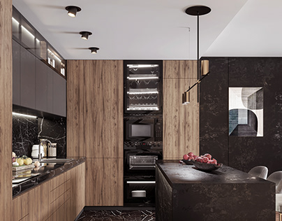 Kitchen Design With Marble And Granite, Cracow, Poland