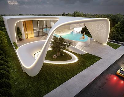 White Pearl Villa, Abu Dhabi, UAE by Omar Hakim