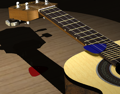 3D MODELING: CAVAQUINHO SOBRE A MESA