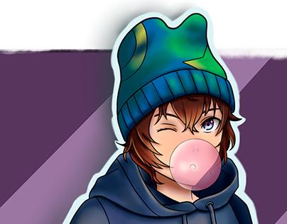 Character design (skate boy )