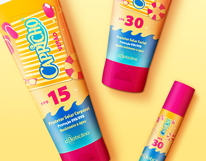 O Boticário Summer Kit | Sunscreen Packaging