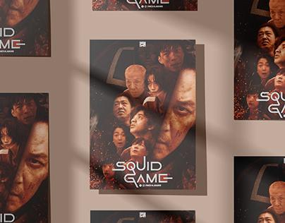 Squid Game K-drama poster   بوستر مسلسل الحبار
